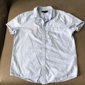 Forever 21 Men's L Button Down Chambray Blue